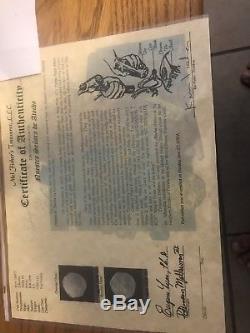 1 DAY SALE Rare Atocha shipwreck 1590 2Reales Silver Cob 18k Gold Mel Fisher