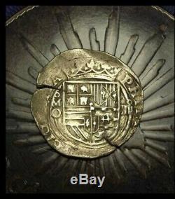 4 Reales Philip ll Cob Mexico Silver 1564-1567 Assayer O Ceca M