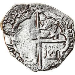 #878334 Coin, Spain, Philip III, 2 Reales, 1598-1621, Toledo, COB, VF, Silver