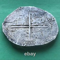 8 REALES PHILIP II SEVILLA 1500s SPANISH SILVER COB COIN