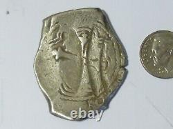 8 Real Cob 1668-1677 Carlos ll, Large. 8102 ounce silver- Double Struck
