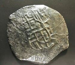 8 Reales Cob Spanish Silver Coin, Spice Islands Shipwreck