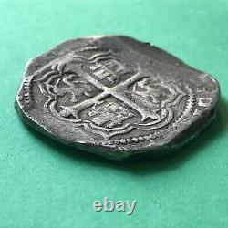 8 Reales Philip III Mexico Authentic Spanish Silver Cob Coin