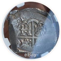 8 Reales SPAIN 1633 (REAL COBS) NGC AU55 RARE