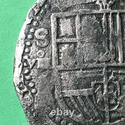 8 Reales Seville (sevilla) Mint Very Nice Spanish Colonial Silver Cob Coin