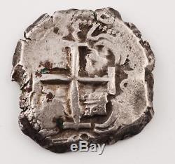 8 Reales Silver Treasure Cob Coin Dated 1739 (two visible dates) Potosi, Bolivia
