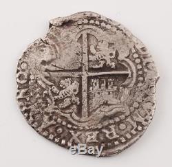 8 Reales Silver Treasure Cob Coin LA CAPITINA Shipwreck 1650-51