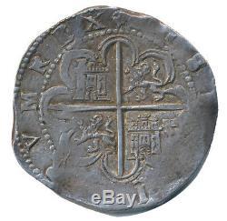 8 Reales Spain 1589-1596 Philip II taler thaler cob