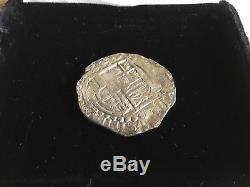90% Silver 8 Reales Spanish Coin Eight Real Potosi C1625 Colonial Cob wCOA