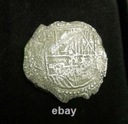 Atocha 1613-1616 8 Reales Spanish Shipwreck Silver COB Coin Assayer Q Potosi