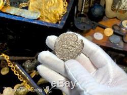 Atocha 1622 Shipwreck Bolivia 8 Reales Silver Cob Pirate Gold Coins Treasure