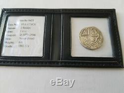 Atocha 2 Reales GRADE 1 Assayer D 1577-1588 Coin Shipwreck Artifact Treasure Cob