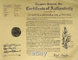 Atocha 8 Reales Grade 1 Shipwreck Coin with COA Philip III Silver Cob Potosi / T