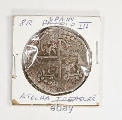 Atocha 8 Reales Grade Shipwreck Coin with COA Philip III Silver Cob Potosi / T