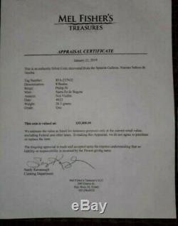 Atocha 8 Reales Santa Fe de Bogota Grade 1 Dated ##22 Coin Appraisal $35000 Cob
