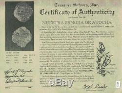 Atocha Potosi, Bolivia, Cob 8 Reales, Phillip III, Assayed T, Grade 2. 26.37g