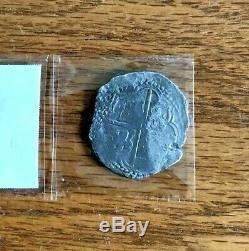 Authentic 1598-1621 Potosi 8 Reales Shield Cob