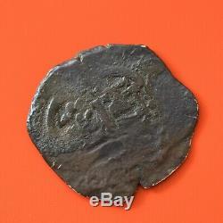 BOLIVIA 8 REALES 1673 Spanish Colonial Silver COB Coin, Assayer E-Ergueta #6360