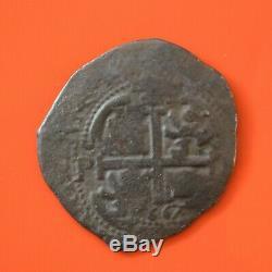 BOLIVIA-POTOSI, 8 Reales (16)67, Shipwreck, Silver COB Coin 19.4g 36mm #M62