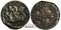 BOLIVIA Philip II POTOSI Silver cob 1/2 Real assayer B/P (1,57 g.) RARE