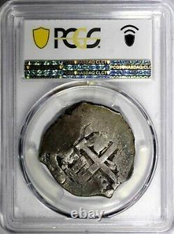BOLIVIA Philip V Silver 1707 P-Y Cob 8 Reales PCGS VF30 RARE KM# 31 (508)