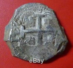 BOLIVIA SILVER COB 8 Reales, KM31a 1741PP (Potosi)