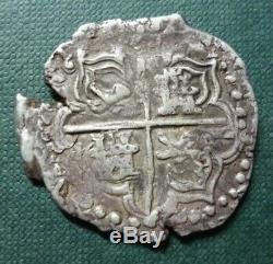 BOLIVIA SILVER COIN COB 4 Reales, C. J. #14.2.1 VF- 1622T Philip IV (Potosi)