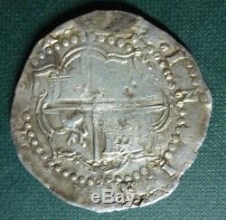 BOLIVIA SILVER COIN COB 8 Reales, C. J. #1.3 VF- 1577-1581B Philip II (Potosi)