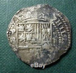 BOLIVIA SILVER COIN COB MACUQUINA 2 Reales, KM3.2, 1574-1576 PR (Potosi)