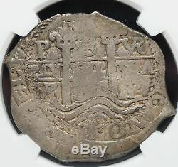 BOLIVIA. Silver Cob 8 Reales, 1687-P, 27.76 g, NGC VF30