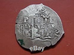 Bolivia. 1667 Cob 8 Reales. Potosi Mint. Charles 11. VF