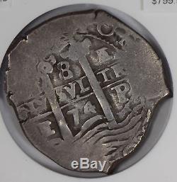 Bolivia 1674 8 Reales silver NGC cob NG0749 combine shipping