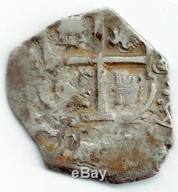 Bolivia 1686 P Vr Silver Cob 1 Real (km#23) Scarce