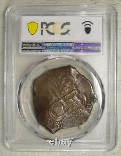Bolivia 8 Reales Cob, Carlos II, ORIGINAL PCGS XF-40, Partial Date, Rare
