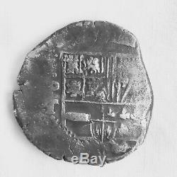 Bolivia 8 Reales, Cob Coinage 1621