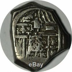 Bolivia Prior to 1652 Silver 2 Reales Cob 6.5 grams XF! -d102tcst1