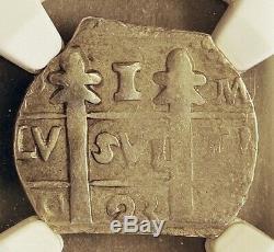 COB. (18)23 Leon, Nicaragua, Provisional 1 Real, 1823-PMPY. NGC AU 55