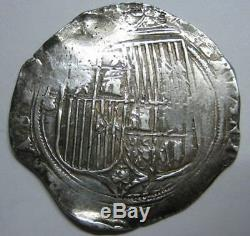 Catholic Kings 2 Real Cob Sevilla Spanish Colonial Isabel & Ferdinand Silver