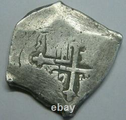 Charles II 8 Real Cob Mexico Assayer L Spanish Dollar Colonial Era Silver Cob