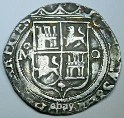 Charles & Johanna Mexico 1500s 2 Reales Antique Spanish Colonial Pirate Cob Coin