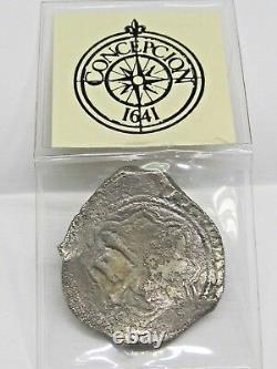 Circa 1641 Mexico Silver 8 Reales Cob Coin P Assayer GRADE INVESTMENT