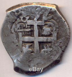 Cob Macuquina Potosi Bolivia Silver 8 Reales 1762 VY 2 Dates Bellisima Carlos