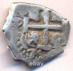 Cob Potosi Bolivia 2 Reales 1754 Q Fernando VI Two Dates High Relief Cross