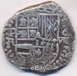 Cob Potosí Bolivia 8 Reales 1602-13 Philip III Assayer R Shield Type Nice Cross