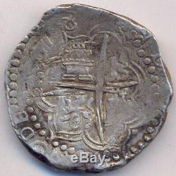 Cob Potosí Bolivia 8 Reales 1618 PAL Felipe III Full date RRR One Year Assayer