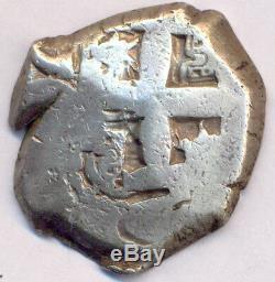 Cob Potosi Bolivia Carlos III 4 Reales 1761 VY Silver