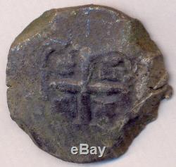 Cob Potosi Bolivia Fernando VI 8 Reales 1745 Q Nice Cross