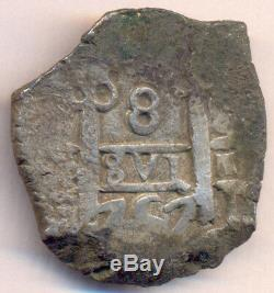Cob Potosi Bolivia Fernando VI 8 Reales 1757 Q Nice Cross