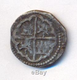 Cob Potosí Bolivia Rincon Felipe II Circa 1570 Real Mega Rare First Assayer