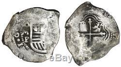Concepcion Shipwreck (1641) Mexico City Silver Cob 8 Reales Philip IV Assayer P